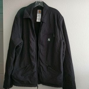 Men's Carhartt J192 BLK Jacket Size XL Tall